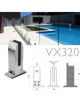 Barriere piscine verre VX320