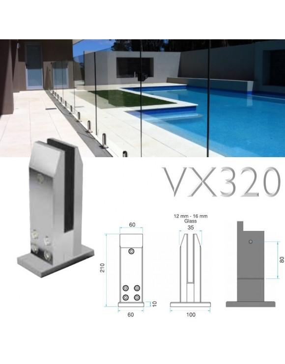 Garde corps terrasse verre VX320