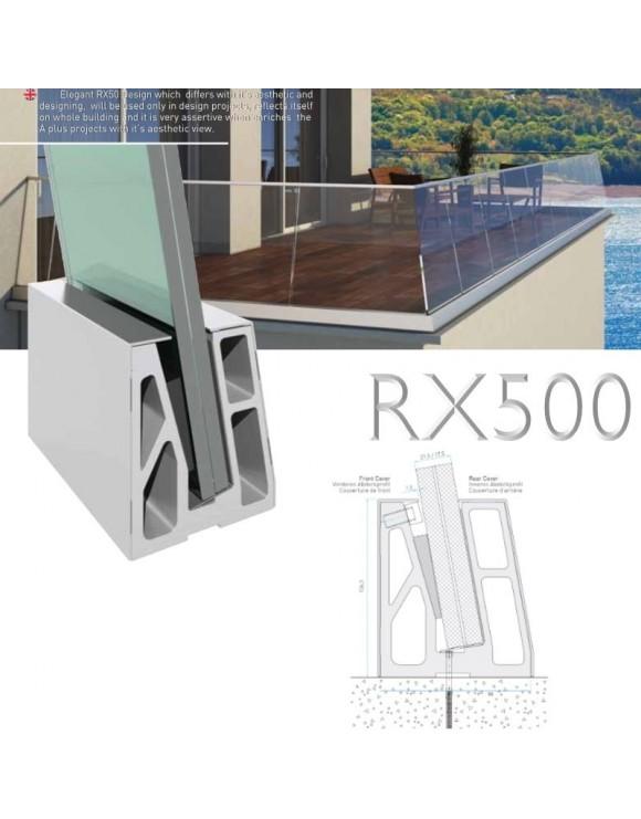 Garde corps verre incliné RX500