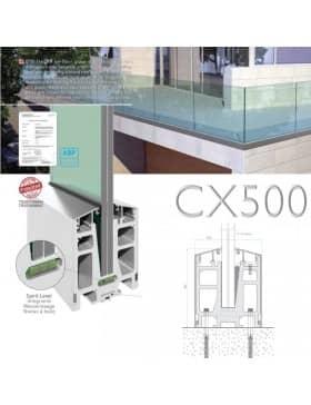 Garde corps en verre CX500