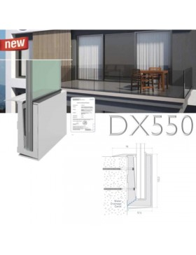 Garde-corps verre DX550 fixation façade