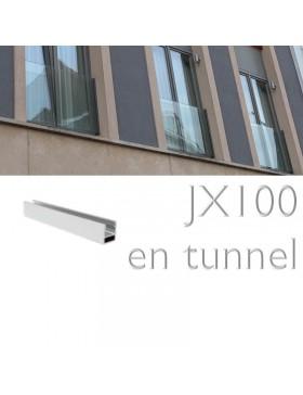 Garde-corps fenetre en verre JX100 TUNNEL