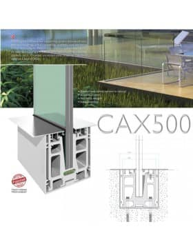 Garde-corps verre CAX500