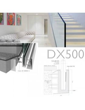 Garde-corps verre escalier DX500