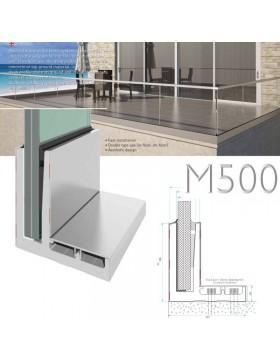 Rambarde verre M500